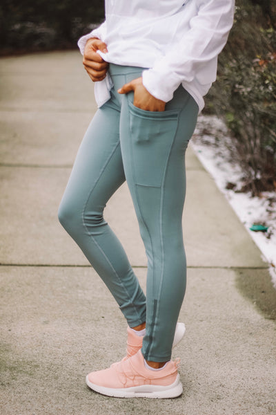 Apple Grove Pants - Dusty Blue - Bates Boutique