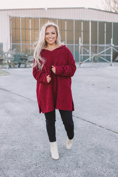 Bring On The Snow - Burgundy - Bates Boutique