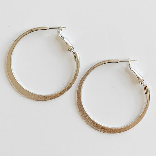 Tani Earrings - Silver 1 1/2""