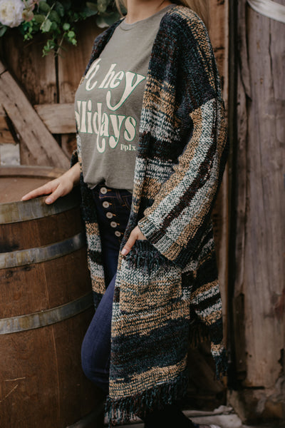 Night By The Fire Cardigan - Forest