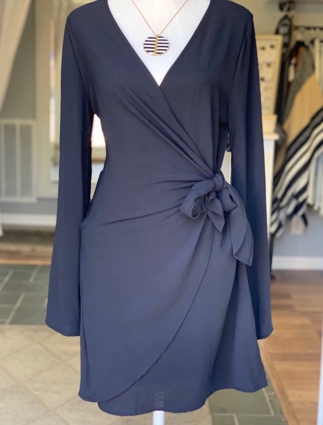City Girl Black Wrap Dress