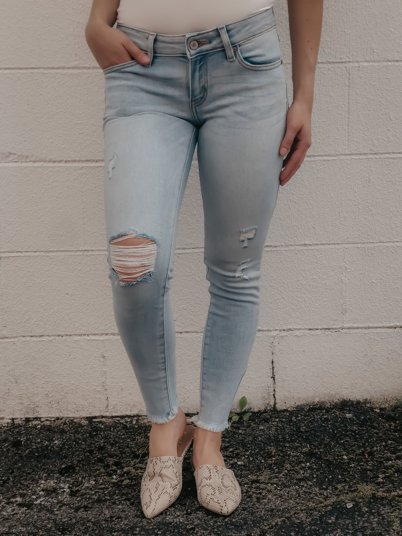 Loretta Light Wash Skinny Jeans