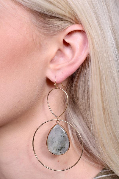 Kami Metal Hoop Earrings