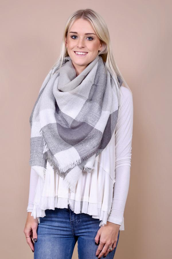Queen Blanket Scarf - Grey