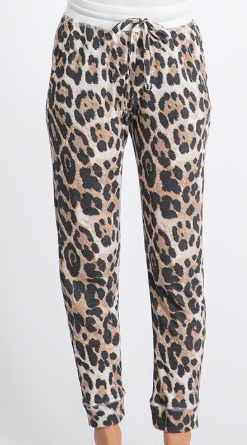 Lounge Around Joggers - Leopard