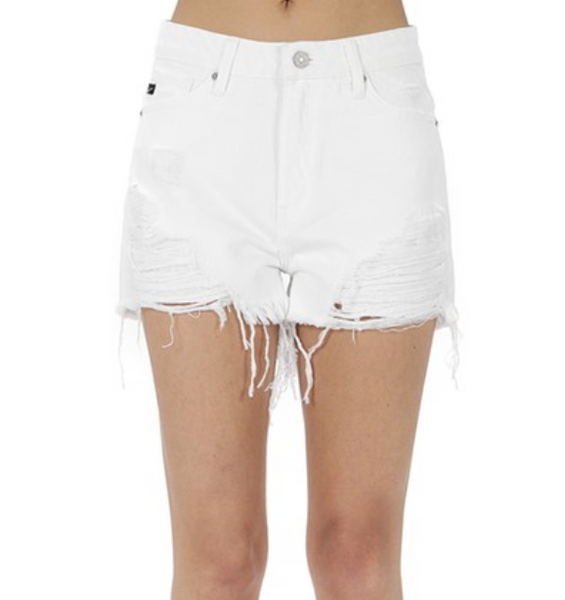 Gypsy High Rise Shorts - White
