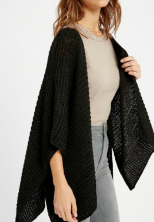 Tiki Hut Cardigan - Black