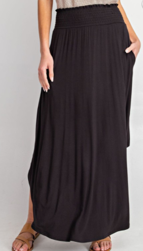 Common Color Maxi Skirt