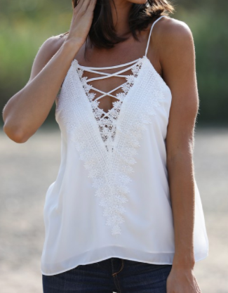 Twilight Tank Top - White
