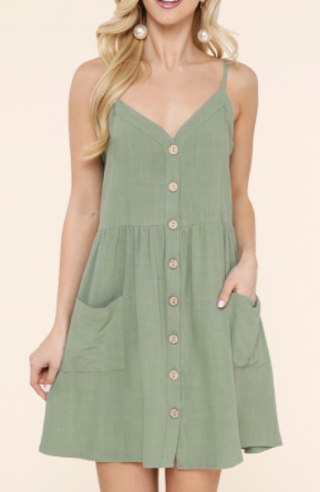 Sweet Sound Dress - Olive