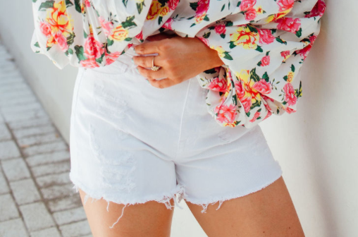 Danni White Denim Shorts
