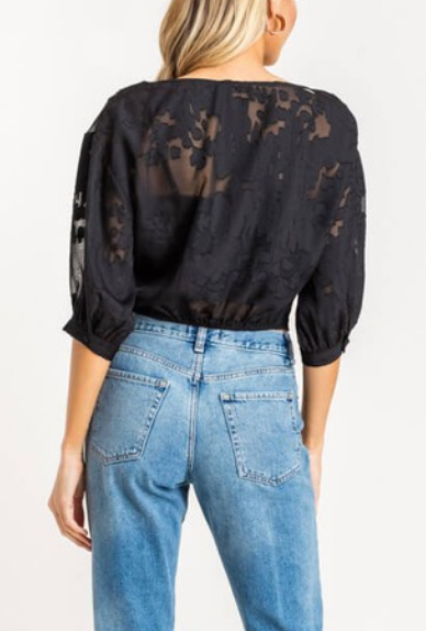 Do A Burnout Top - Black