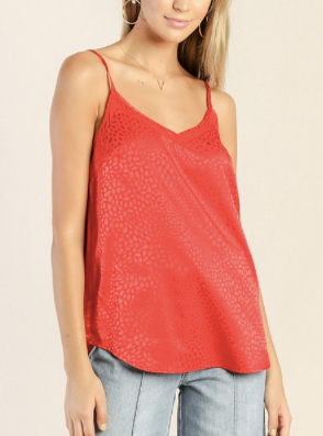 Contrast Cami - Red