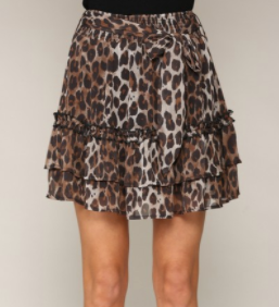 Quick Trip Skirt - Leopard