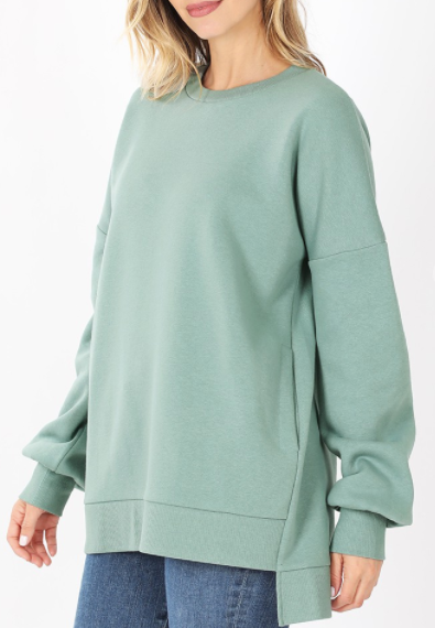 Feel Good Fabric Sweatshirt - Green