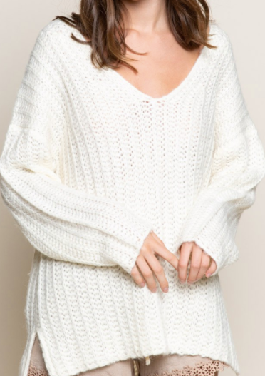 Always In Style Sweater - Ivory