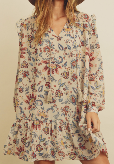 Interlocked Floral Dress