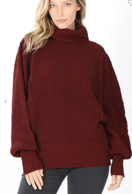 Stay Steady Sweater - Burgundy