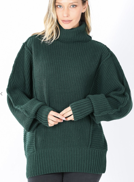 Stay Steady Sweater - Green