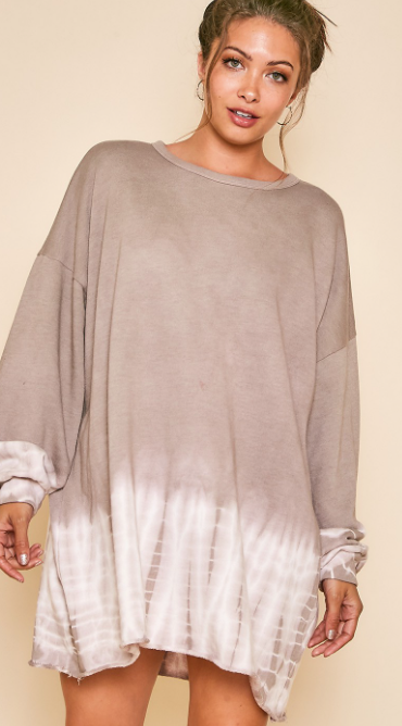 Layer Of Fog Dress - Taupe