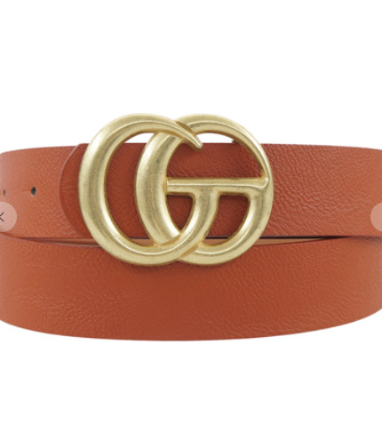 Go Buckle Belt - Rust