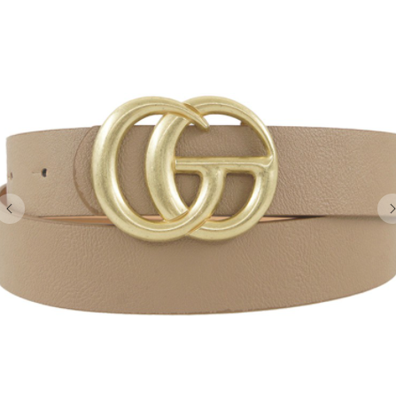 Go Buckle Belt - Taupe