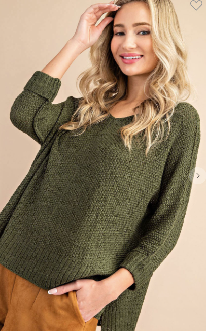 Cannot Contain Sweater - Olive
