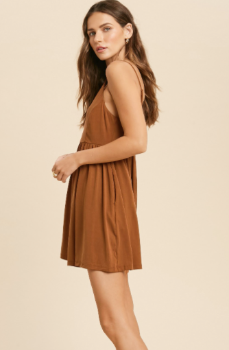 Lots Of Layers Romper - Camel