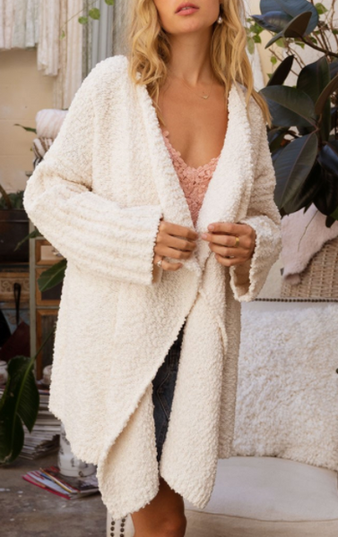Waterfall Flows Cardigan - Ivory