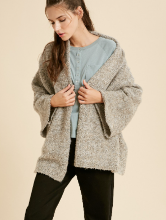 Wide Open Cardigan - Taupe