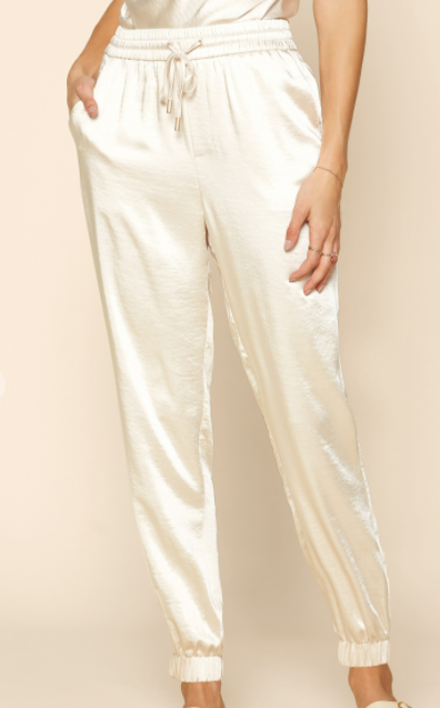 So Much Sass Joggers - Cream