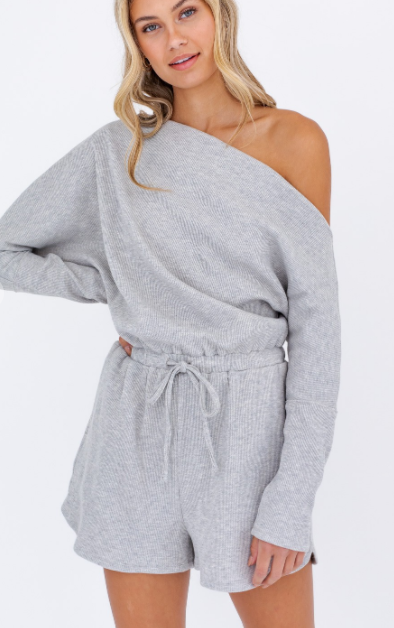 Lazy Lounge Romper - Grey