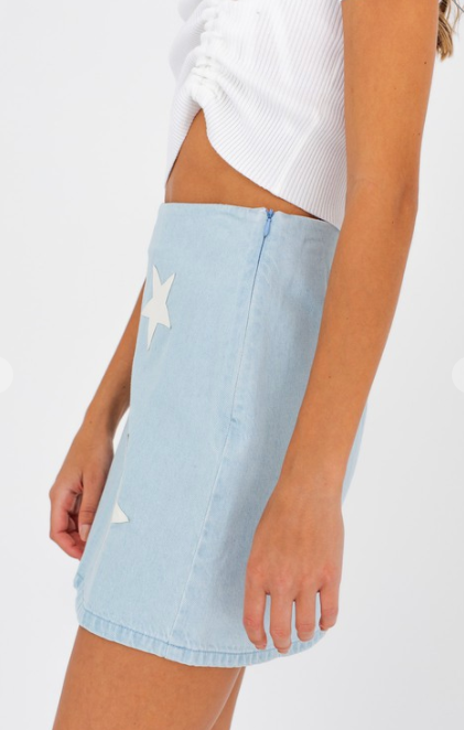 Star Struck Denim Skirt
