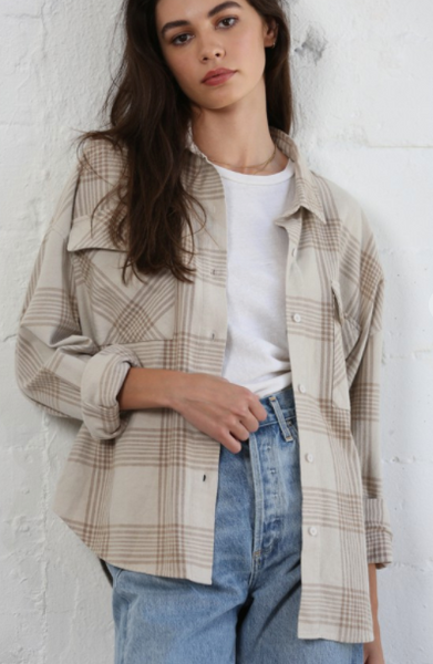 Lifestyle Plaid Button Down