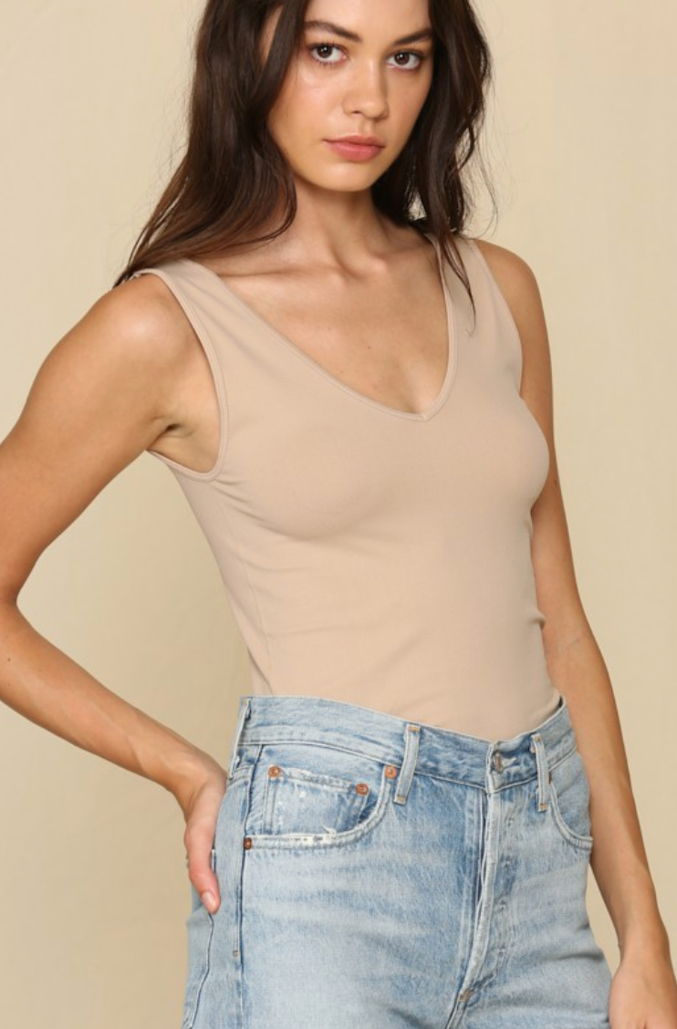 Seamless Quality Tank - Light Taupe