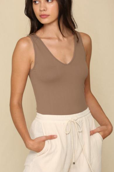 Seamless Quality Tank - New Mocha