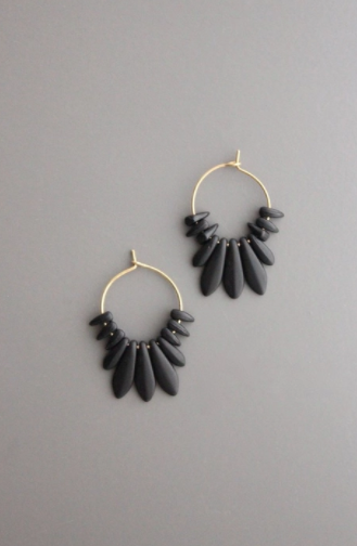Picasso Earrings - Black