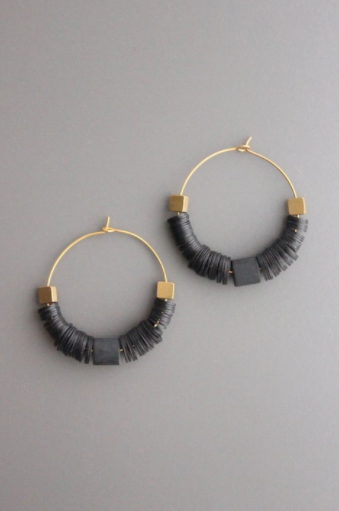 Vulcanite Earrings - Black