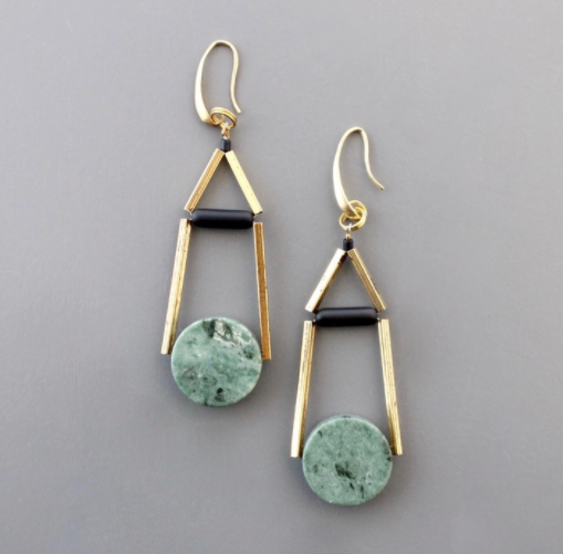 Jet Glass Earrings
