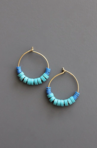 Vulcanite Beaded Earrings