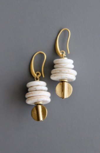 Brass Hook Earrings