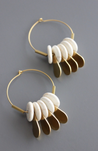 Brass Plated Gold Hoops