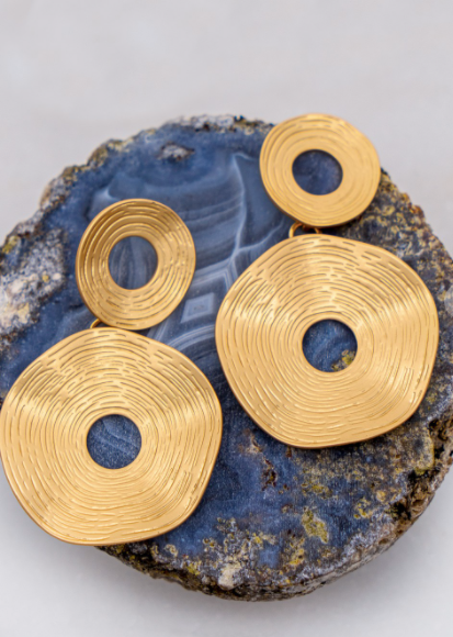 Swirl Earrings - Gold