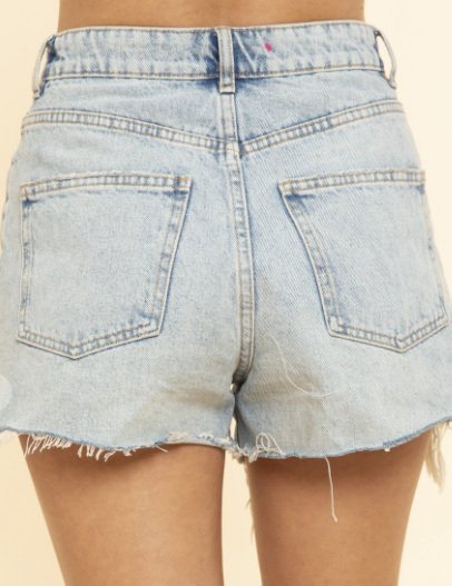 Fab Frayed Denim Shorts