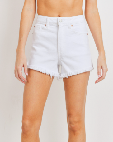 Willow White Denim Shorts