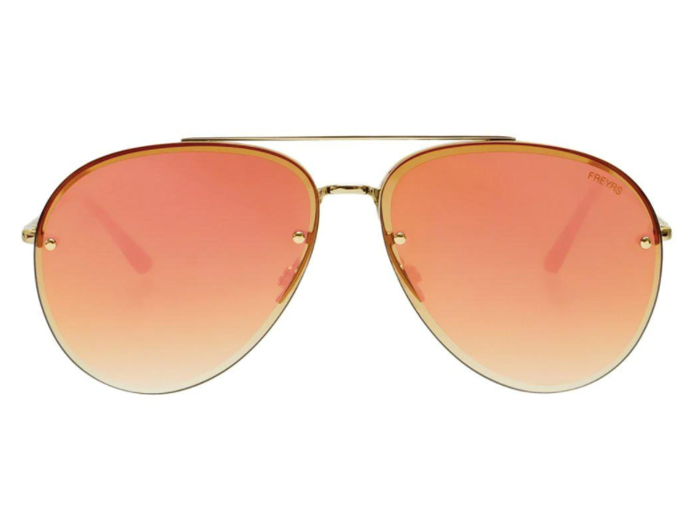 Charlie Sunglasses - Gold Mirror