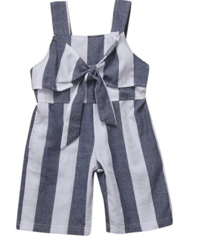 Striped Bow Jumpsuit