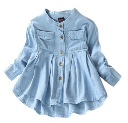 Girls Denim Shirt - Bates Boutique