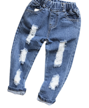 Girls Ripped Jeans - Bates Boutique