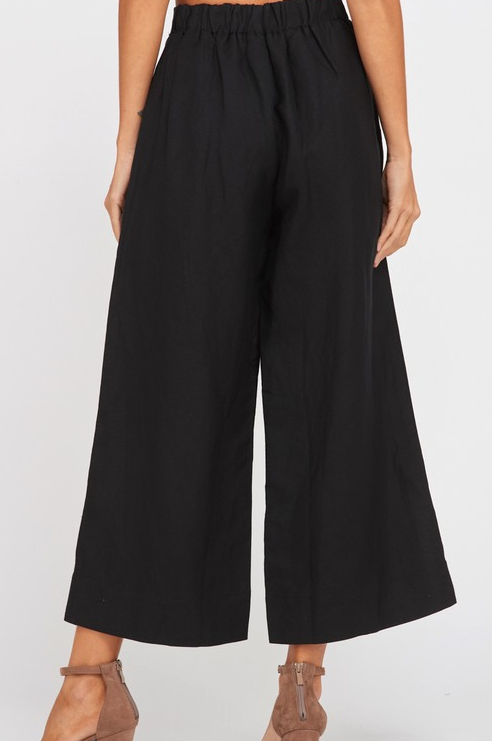 Walk The Line Wide Legged Pants - Black